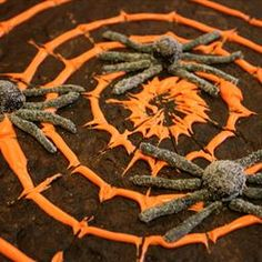 Spooky Spiderweb Cookie on BigOven: A giant spooky spiderweb cookie to share with your trick or treaters on Halloween.