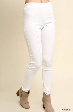 1fd4ff249ead Off White High Waisted Front Seam Jegging. Lillies Boutique