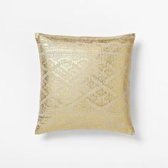West Elm Metallic Faux Knit Print Pillow Cover ($29) via Polyvore