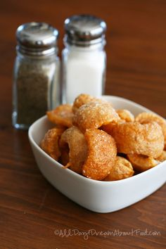 Paleo Snack Homemade Salt & Pepper Chicharrones {Pork Rinds} | All Day I Dream About Food