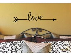 Love Arrow Decal Arrow Decor Love Arrow Wall by JustTheFrosting