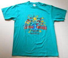 Vintage LAS VEGAS Teal Tourist T Shirt MEDIUM Gaming Capital of the World Nevada #Jerzees #GraphicTee