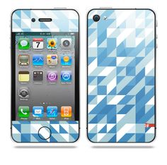 Semipixel Blue iPhone skin by TAJTr