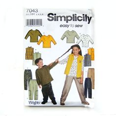 Vintage Simplicity Pattern. Little Girls and Boys by FloridaQuarry