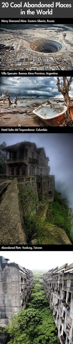 Funny pictures about Amazing abandoned places in the world. Oh, and cool pics about Amazing abandoned places in the world. Also, Amazing abandoned places in the world. Abandoned Cities, Abandoned Mansions, Abandoned Houses, Places To Travel, Places To See, Places Around The World, Around The Worlds, Haunted Places, Beautiful Images