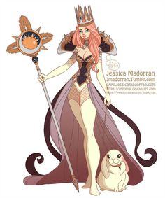 Character Design - Queen Bunny by MeoMai on DeviantArt Character Design Challenge, Character Design Cartoon, Character Design Animation, Fantasy Character Design, Character Design Inspiration, Character Concept, Character Art, Zbrush, Disney Concept Art