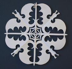 Divergent Paper Snowflake Template  Kar Kristalleri