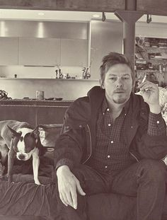 norman reedus. i imagine he smells like cigarettes & whiskey lol I don't care.