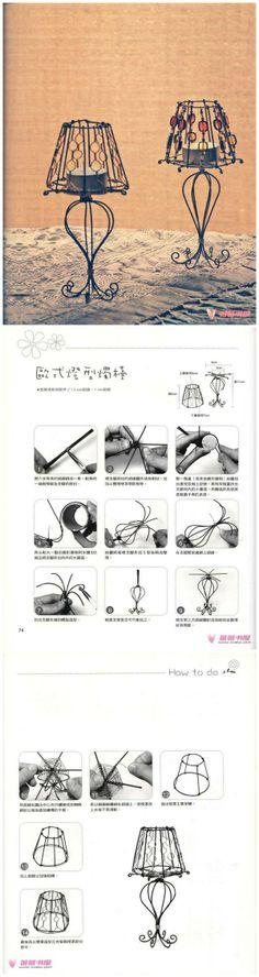 铝线手工-欧式灯形烛台