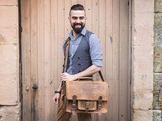 Medium Overlander Leather Satchel 16 Inch