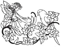Image detail for -FAIRY COLORING PAGES