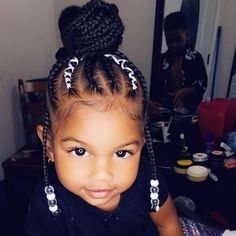 53 Box Braids Hairstyles That Rock - Hairstyles Trends Lil Black Girl Hairstyles, Toddler Braided Hairstyles, American Girl Hairstyles, Girls Natural Hairstyles, Kid Hairstyles, Hairstyle Ideas, Mixed Baby Hairstyles, Wedding Hairstyle, Little Girl Braids