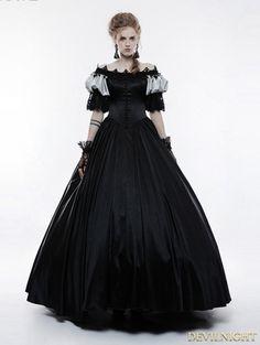 Black Victorian Vintage Palace Long Ball Gown Dress Victorian Dress Costume, Costume Dress, Victorian Dresses, Formal Dresses For Weddings, Black Wedding Dresses, Gown Wedding, Soirée Halloween, Black Gothic Dress, Punk Dress