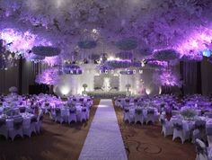 Wedding decoration by dawid daud decoration 008 my purple combining the trends of purple lighting and lamps as centerpieces create a romantic look junglespirit Gallery