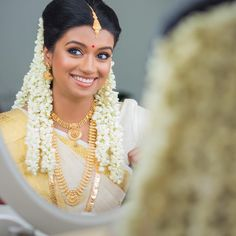 photon_image_ Beautiful vintage civil ceremony Pre-shoot in stunning backwaters of Kerala. Kerala and Tamil style Hindu wedding Spectacular wedding Kerala Bride, Kerala Saree, Tamil Brides, Tamil Wedding, Indian Bridal Wear, Civil Ceremony, Bridal Makeup, Indian Outfits, Bridal Jewelry