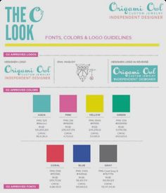 Acceptable Origami Owl fonts & colors