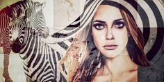 "Saatchi Art Artist Shirin Donia; Photography, ""ZEBRA LADY - print on canvas, limited Edition 199"" #art"