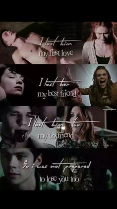 I lost him, my first love. I lost her, my best friend. I lost him too, my boyfriend. So i was not prepared to lost you too. #Stydia