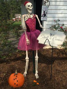 Ballerina Skeleton welcoming you to the Inn.