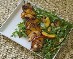 Grilled Chicken & Peach Skewers / gluten-free, dairy-free recipe