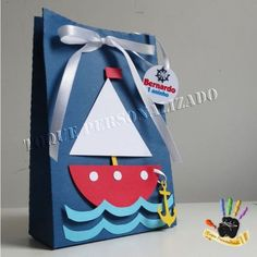 VK is the largest European social network with more than 100 million active users. Summer Crafts, Diy And Crafts, Paper Crafts, Sailor Theme, Decorated Gift Bags, Nautical Party, Baby Birthday, Baby Boy Shower, Party Gifts