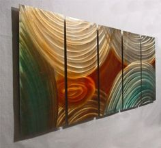 Circles - Abstract Painting Metal Wall Art sculpture for contemporary decor Sculpture by Nider the Internationally Acclaimed Artist of Modern Contemporary Decor NiderArt http://www.amazon.com/dp/B005KU72YC/ref=cm_sw_r_pi_dp_TSl7ub0BXZ6T7