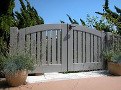 Premium Wood Gates built with Garden Passages satisfaction guarantee and turn-key service have stood as the industry benchmark for over ten years. Wood Gates, Heavy Duty Hinges, Double Gate, Front Gates, Outdoor Spaces, Outdoor Decor, Garden Gates, Craftsman Style, Custom Wood