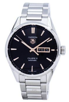 Features: stainless steel case stainless steel bracelet automatic movement caliber 5 sapphire crystal black dial luminous hands day and date… Luxury Watches, Rolex Watches, Watches For Men, Stainless Steel Bracelet, Stainless Steel Case, Tag Heuer Carrera Automatic, Tag Heuer Formula, Watch Sale, Omega Watch