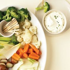 Serve this simple, elegant dip with crudites such as carrots, fennel, endive, and broccoli.