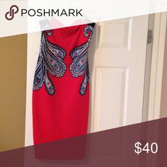 Dress Beautiful sleeveless dress, never worn! One tag is still attached. Looks great with or without a denim jacket! Express Dresses