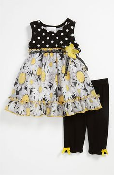Iris & Ivy 'Daisy' Dress & Leggings (Infant) | Nordstrom