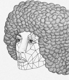A nevertheless-she-persisted kind of woman: Angela Davis. Never stop fighting the power ✊👸  #angeladavis #illustration #dotwork #poc #fightthepower