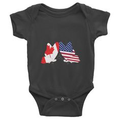American Canadian Butterfly Baby Onesie