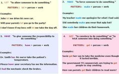 Causative verbs: Help, Let, Make, Have and Get