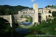 Besalu bridge in east Spain