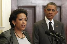 Delivers remarks at an investiture ceremony for Attorney General Loretta Lynch at Warner Theatre.