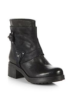 Vera Wang Lavender Label Esther Leather & Suede Ankle Boots  $250  SFA
