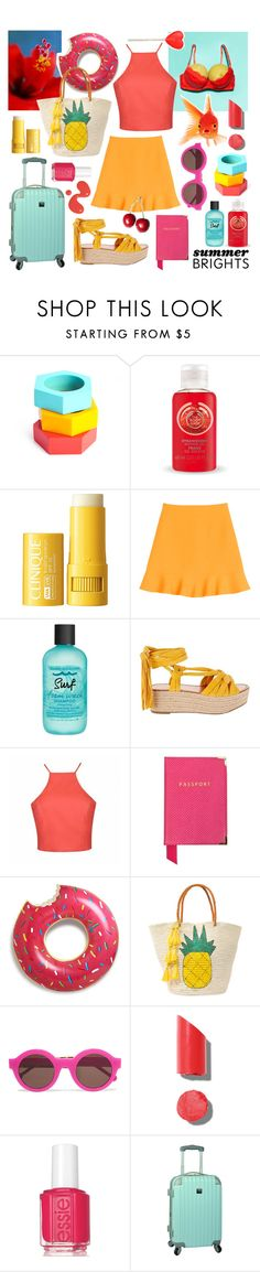 """the Bright side of Life :)"" by sophier ❤ liked on Polyvore featuring The Body Shop, Valentino, Bumble and bumble, Sigerson Morrison, Ally Fashion, Aspinal of London, Sensi Studio, Preen, Chanel and Essie"