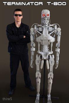 T 1000000 Terminator ... terminator t 800 more geek life size brick lego terminator art movie