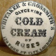 Whitaker-Grossmith-Fore-St-London-Cold-Cream-Pot-Lid-Base-c1880