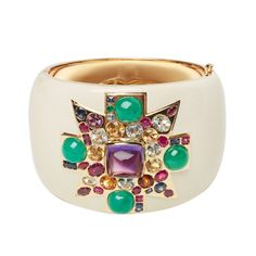 VERDURA A Fulco Cuff Bracelet | From a unique collection of vintage cuff bracelets at http://www.1stdibs.com/jewelry/bracelets/cuff-bracelets/
