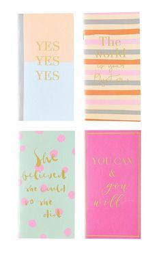 Positivity Notebooks Choose any 4 Midori Insert / Paper
