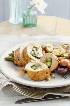 14 Romantic Dinner Recipes: Baked Chicken Roulade