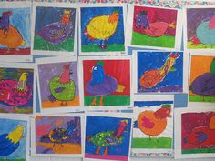 colorful chickens!!!