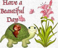 Have a beautiful day cute friendship beautiful day animated wish friend gif greet