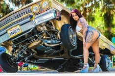 Chicano, 63 Chevy Impala, Chola Girl, Lowrider Art, Chevy Muscle Cars, Latina Girls, Jeep Cars, Hot Bikes, Biker Girl