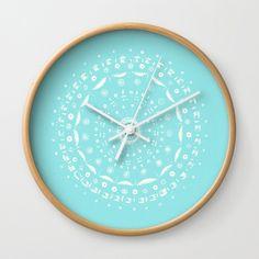 A personal favorite from my Etsy shop https://www.etsy.com/listing/280214584/mandala-wall-clock-modern-wall-clock