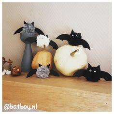Halloween vleermuisjes maken Diy, Pom Poms, Seeds, Bricolage, Do It Yourself, Fai Da Te, Diys