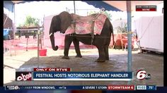 A small Indiana town's festival planners are facing criticismafter booking an elephant handler with decades of abuse allegations. Psychotic, Sociopath, Prisoner, Wild And Free, Chains, Crime, Purpose, Wildlife, Elephant