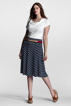 531249de498 Women s Plus Size Pattern Knit Convertible Skirt  50 Plus Size Patterns